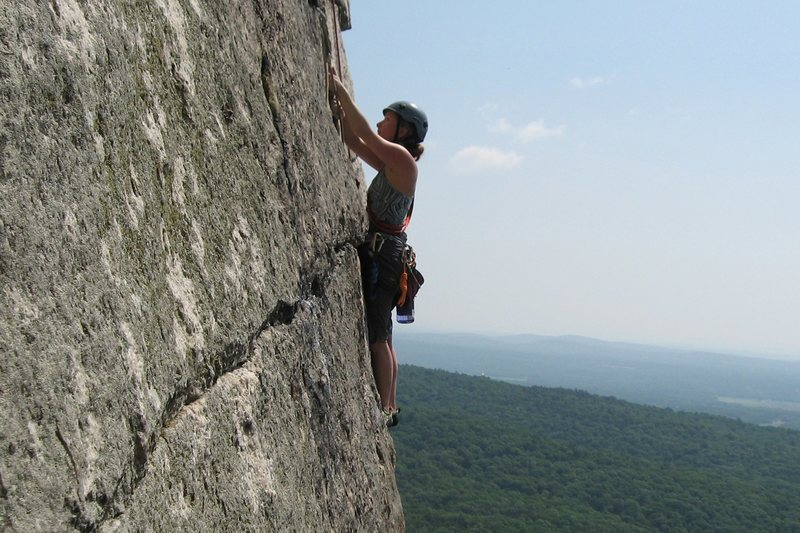 H on third pitch of CCK, The Gunks, NY