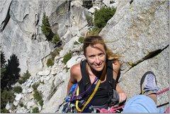 Rock Climbing Photo: Heather Selitrennikoff, Igor Unchained, Needles, C...