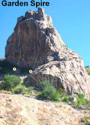 Rock Climbing Photo: GARDEN SPIRE 1. Fortune Cookie 5.12 2. Hole in the...