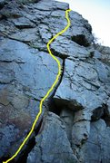 Rock Climbing Photo: This is the Route....