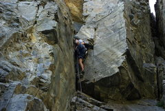 Rock Climbing Photo: First crux...
