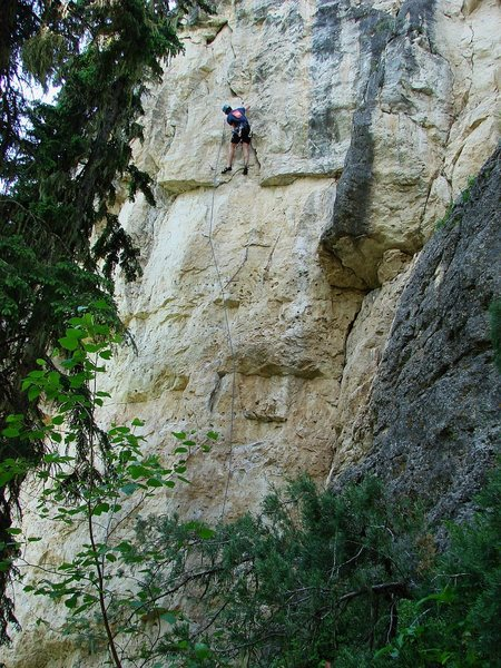 Rock Climbing Photo: Jay high up on Courtesy Drip, an extension of Cour...