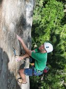 Rock Climbing Photo: Higher up on Urine Trouble.  Amazing setting, clim...