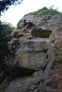 Rock Climbing Photo: My First Outdoor Lead Onsight