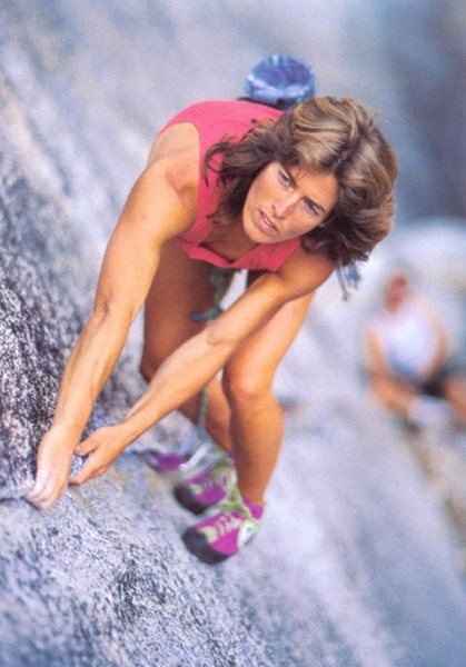 Rock Climbing Photo: Commonly found internet image of Lynn Hill leading...