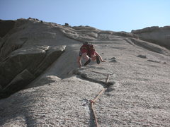 Rock Climbing Photo: Looking up Pitch #2