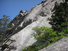 Rock Climbing Photo: The Pitch #4 belay with #5 continuing directly abo...
