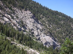 Rock Climbing Photo: Unclimbed rock across canyon