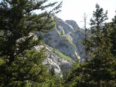 Rock Climbing Photo: yet another angle view (from the west) with route ...