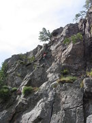 Rock Climbing Photo: Dispatching the crux...