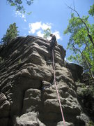 Rock Climbing Photo: C. Love reaches for a cam on her 1st traditional l...