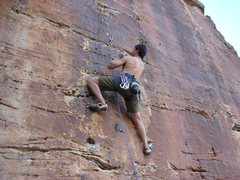 Rock Climbing Photo: Indigenous Wall, Left Route, 6b, Pinon, AZ  Photog...