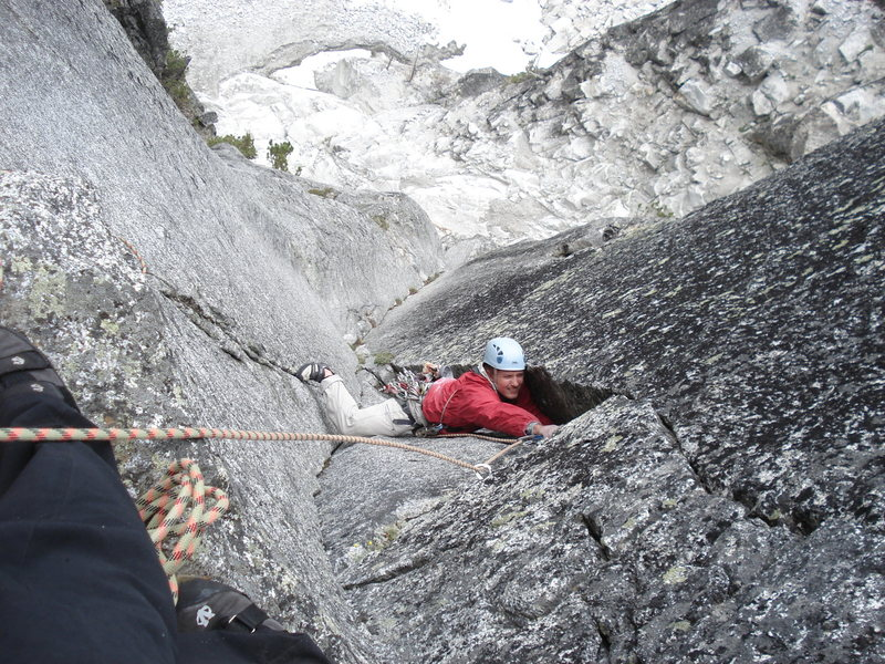 Rock Climbing Photo: Top of P1 (or P3 in Select Guide)