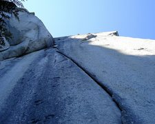 Rock Climbing Photo: P1, gently overhanging for 100 feet. Beauty of a p...