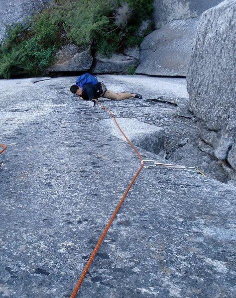 Rock Climbing Photo: David Trippett cruising p1.