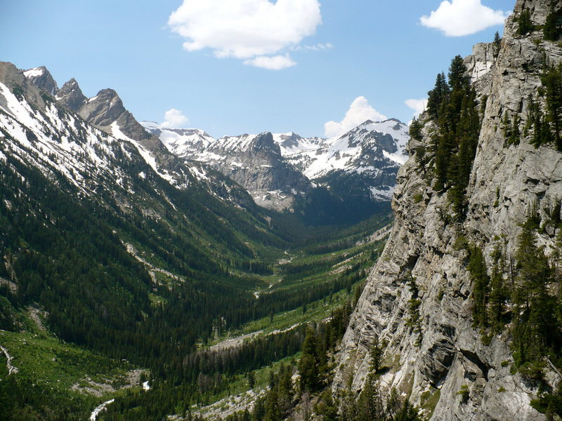 Cascade Canyon from Guides Wall, GTNP, WY.
