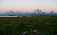 Rock Climbing Photo: Sunset on the Tetons, GTNP, WY.