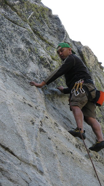 Rock Climbing Photo: almost to the crux of Horseman