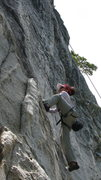 Rock Climbing Photo: Kyoko highstepping Horseman