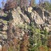 Hurd Creek crag near Tabernash, CO.