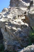 Rock Climbing Photo: Matt DeCoste on the lead at Hurd Creek crag.