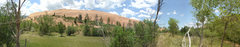 Panorama of west wall at Red Rocks Canyon.