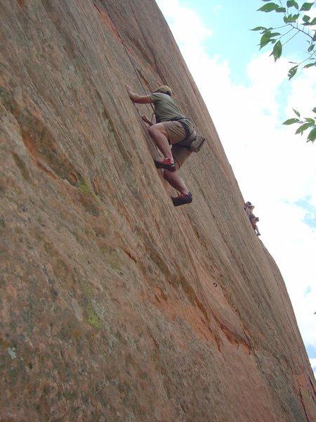 Rock Climbing Photo: Ramsey Ross ascending a 5.10b on east wall.