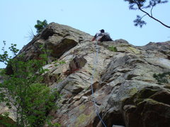 Rock Climbing Photo: Upper section of The Luminosity.  Great route!