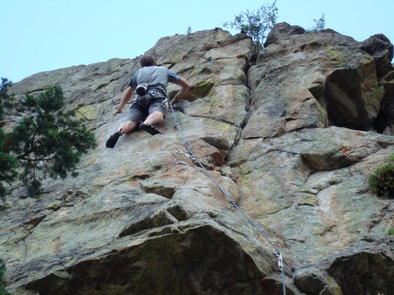 Rock Climbing Photo: Mark Cushman leading Tower of Power.