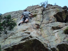 Rock Climbing Photo: Mark Cushman leading Tower of Power.