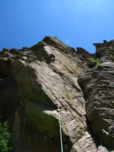 Rock Climbing Photo: Keen Butterworth entering the 2nd crux on Heart of...