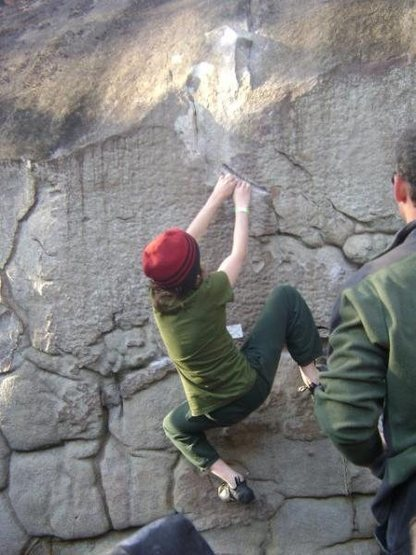 Climbing a cool LRC route...
