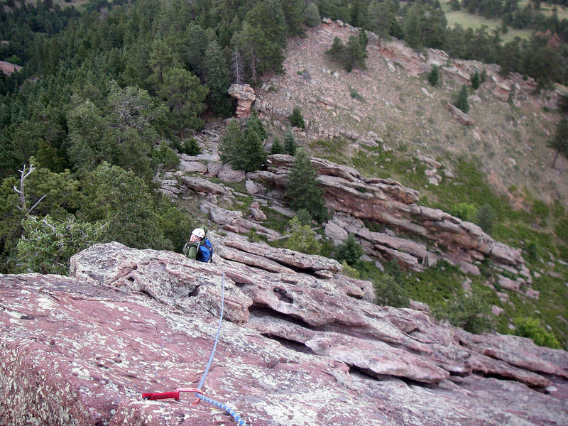 Rock Climbing Photo: Sarah stopping to enjoy the view heading up Billy ...