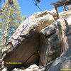 The Wormhole Boulder, Tramway.