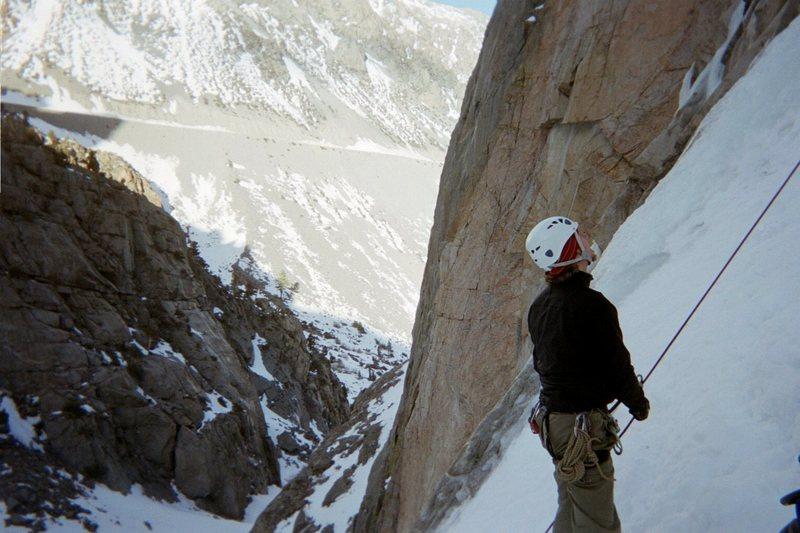 Rock Climbing Photo: Belaying Deanna as she climbs The Bard-Harrington ...