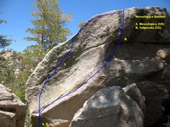 Rock Climbing Photo: Messylepica Boulder, Tramway.