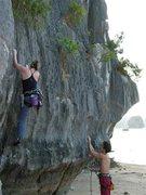 Rock Climbing Photo: Climbing in Halong Bay (Nov 2006)