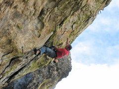 Rock Climbing Photo: Vince Bates on Eureka.  Photo Geir Hundal