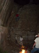 Rock Climbing Photo: Night climbing Fire-light