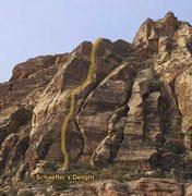 Rock Climbing Photo: The line of Schaeffer's Delight.