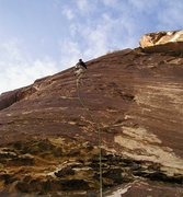 Rock Climbing Photo: Nice face climbing on the first pitch of Schaeffer...