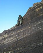 Rock Climbing Photo: The start of the second pitch, back when there was...