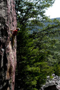 Rock Climbing Photo: Excellent rest before tackling the steep, pumpy cr...