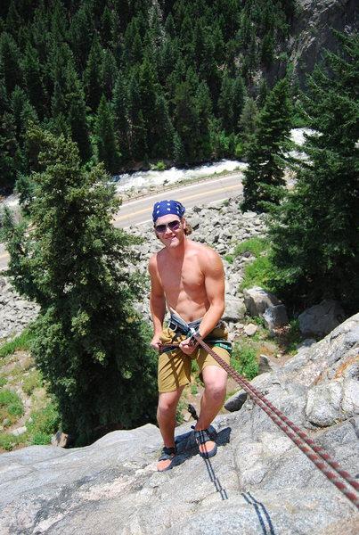 Rock Climbing Photo: 1st Rap