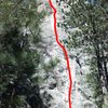 Pelican's Dyke... a really fun climb.  Thanks to all that helped identify the route.