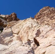 Rock Climbing Photo: Options on the upper pitches provide an opportunit...