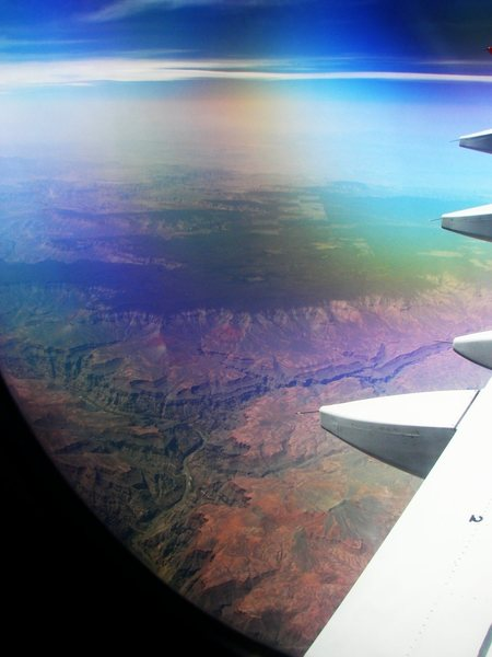 Grand Canyon from 30,000 feet, flying back from JT.  Wow.  April 08.