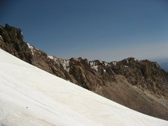 Rock Climbing Photo: This shows the ridge you gain above the Devils Kit...