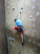 Rock Climbing Photo: Climbing a national route