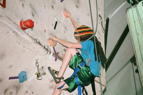 Rock Climbing Photo: Climbing 5.11 in dreads:P